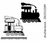 wild west steam locomotive. toy ... | Shutterstock .eps vector #281512289