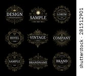 set of vintage luxury logo... | Shutterstock .eps vector #281512901