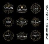 set of vintage luxury logo... | Shutterstock .eps vector #281512901