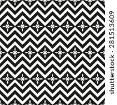 black and white seamless... | Shutterstock .eps vector #281513609