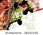 Skateboarding poster with grunge background. Vector illustration. - stock vector