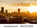 city during warm sunset | Shutterstock . vector #281527064