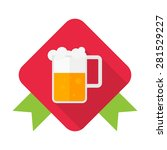 beer flat icon with long shadow ...