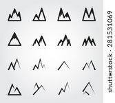 mountain vector icons | Shutterstock .eps vector #281531069
