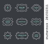 vintage logo set  retro design... | Shutterstock .eps vector #281532311