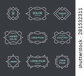 vintage logo set  retro design... | Shutterstock .eps vector #281532311