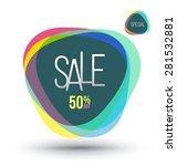 abstract sale banner. vector... | Shutterstock .eps vector #281532881