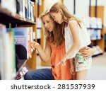 mother and daughter picking a... | Shutterstock . vector #281537939