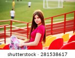 swag girl. lifestyle portrait... | Shutterstock . vector #281538617