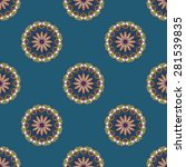 seamless patterns. vintage... | Shutterstock .eps vector #281539835