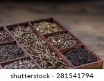 Assortment Of Dry Tea In Crate