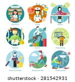 set of circle colorful icons... | Shutterstock .eps vector #281542931