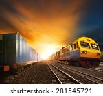 industry container trains... | Shutterstock . vector #281545721