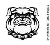 bulldog head. vector... | Shutterstock .eps vector #281550011