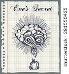 hand drawn vintage tattoo.... | Shutterstock .eps vector #281550425