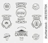 carnival badges logos and... | Shutterstock .eps vector #281550704