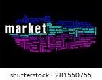market word on cloud concept... | Shutterstock . vector #281550755