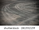 Abstract Asphalt Road...