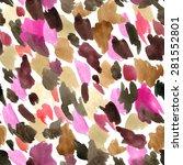 leopard skin seamless pattern.... | Shutterstock .eps vector #281552801