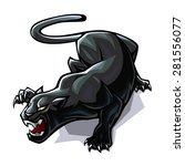 stylized black wild cat... | Shutterstock .eps vector #281556077