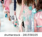 fashion show finale  a catwalk... | Shutterstock . vector #281558105