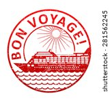 bon voyage   rubber stamp with...   Shutterstock .eps vector #281562245