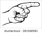 pointing hand | Shutterstock .eps vector #281568581