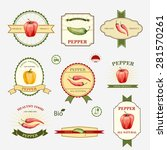 pepper  set of label design and ... | Shutterstock .eps vector #281570261