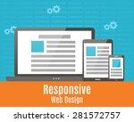 responsive design. icons set of ...   Shutterstock .eps vector #281572757