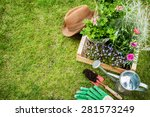 spring in the garden. flower... | Shutterstock . vector #281573249