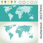 world map vector with pointers  ... | Shutterstock .eps vector #281576441
