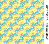 scratched fan background. based ...   Shutterstock .eps vector #281578685