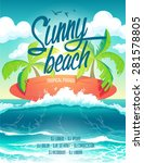 Sunny Poster Surf Beach Party