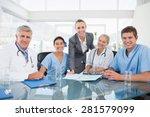 team of doctors and...   Shutterstock . vector #281579099
