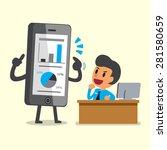 business concept cartoon...   Shutterstock .eps vector #281580659