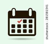 calendar flat icon   vector | Shutterstock .eps vector #281581541
