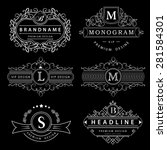 monogram design elements ... | Shutterstock .eps vector #281584301