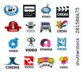 large set of vector logos for... | Shutterstock .eps vector #281588675