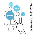 communicating via modern... | Shutterstock .eps vector #281595794