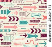 seamless pattern with arrows. | Shutterstock .eps vector #281604875