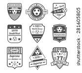 soccer and football sport game... | Shutterstock .eps vector #281605805