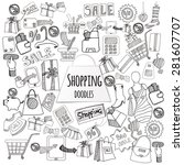shopping retail sale and... | Shutterstock .eps vector #281607707