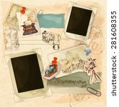 retro scrapbooking set with... | Shutterstock .eps vector #281608355