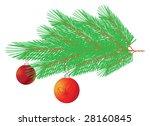 branch of christmas tree | Shutterstock .eps vector #28160845
