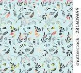 seamless floral pattern.... | Shutterstock . vector #281609699