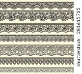 set of decorative borders... | Shutterstock .eps vector #281615735