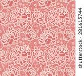 seamless pattern stylized like... | Shutterstock .eps vector #281615744