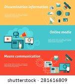 media horizontal banner set... | Shutterstock .eps vector #281616809