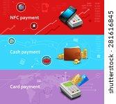 payment horizontal banners set... | Shutterstock .eps vector #281616845