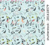 seamless floral pattern.... | Shutterstock .eps vector #281618579